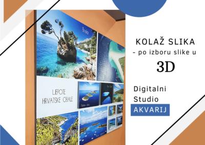 KOLAŽ SLIKA - po izboru slike u 3D